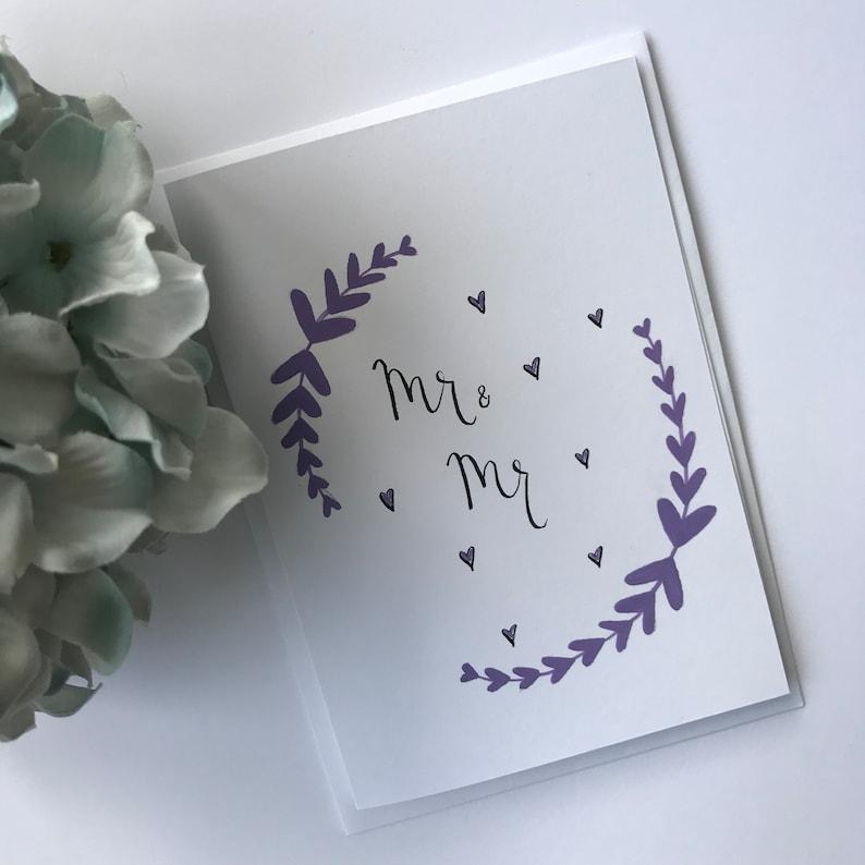 MR /& MR WEDDING DAY CARD