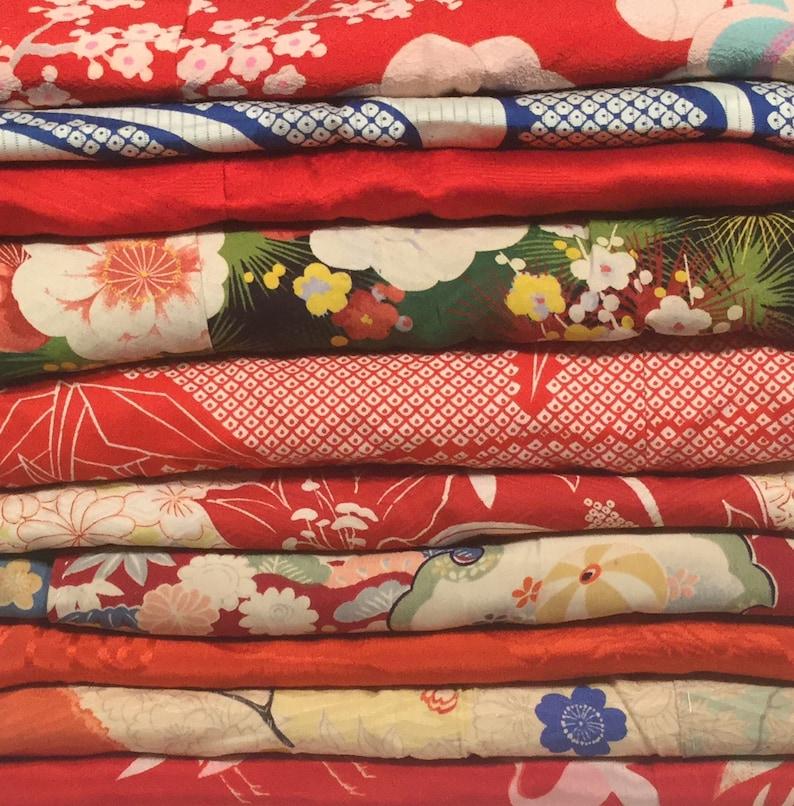 ,10lbs lot Vintage Japanese Under-Kimono Girls /& Womens,Japanese Fabrics Nagajuban