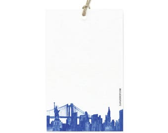 New York City Skyline Gift Tag Set