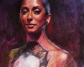 Channeling Frida Original Oil Painting Portrait