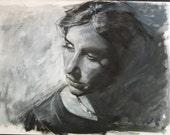 Custom Modern Contemporary Portrait in Black and White