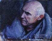 Game of Thrones Fan Art Maester Luwin  Original Oil Painting by Kristina Laurendi Havens