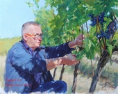 The Agronomist Master Gardner for the DaVinci Wine Company Italy Original Oil Portrait Painting