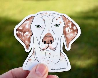 English Pointer Sticker, Waterproof Vinyl Sticker, Dog Art Sticker