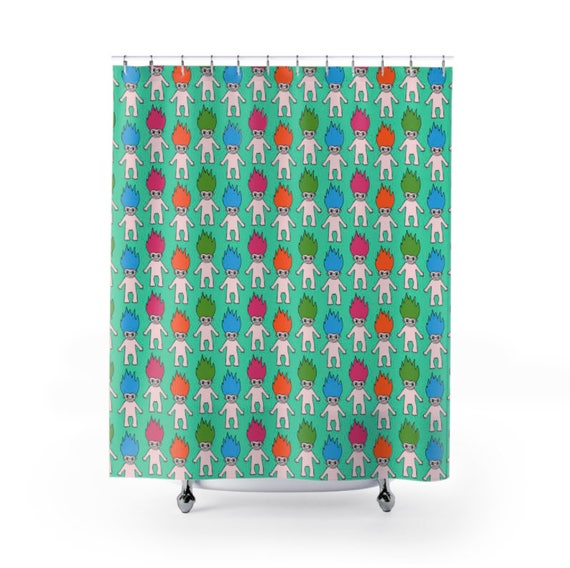 90s Troll Shower Curtain 3 Colors