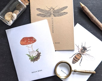 3 Pocket Nature Notebook Covers + 6 Bookmarks - Digital, Printable PDF