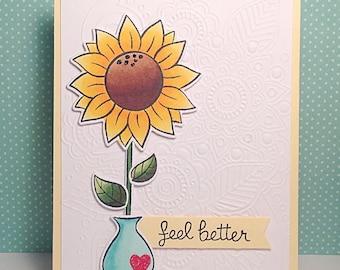 Sunflower Get Well Card