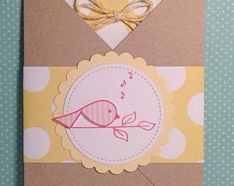 Songbird Get Well Pocket Card