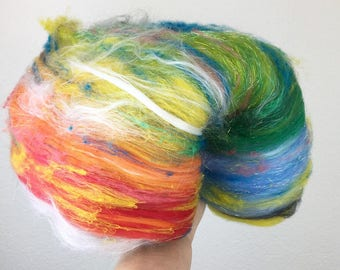 Over the Rainbow - Wool Art Batt 3.0 oz