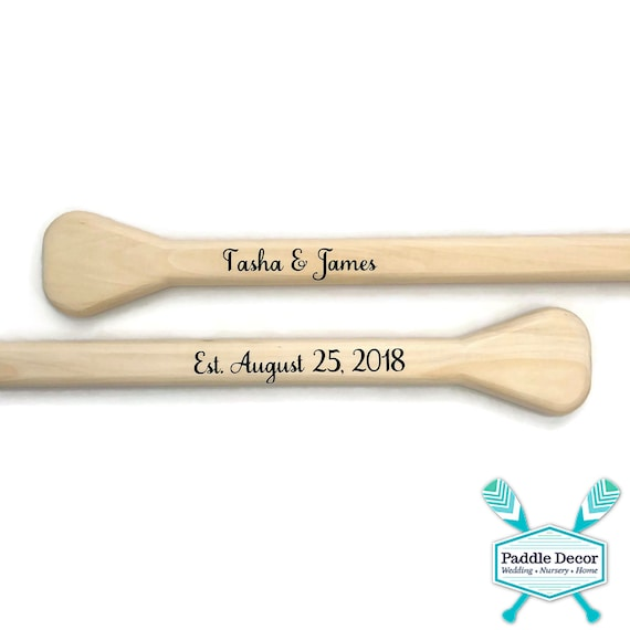 Nautical Wedding  Custom guest book  Personalized canoe paddle  58 Inch  Pair unfinished oars for weddings at beach or lake, Guestbook sign
