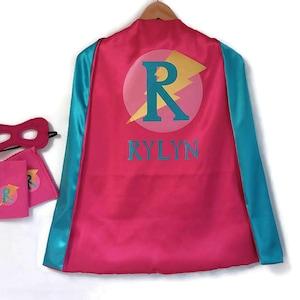 strong heart gift Girls Super hero Cape pink heart girl power superhero family super mum gift