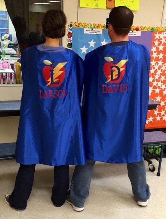 Adult Cape - Superhero Cape - Teacher Personalized Cape - Super Hero Cape -  Super Teacher Cape - Teacher Superhero Cape - Super Teacher Cape