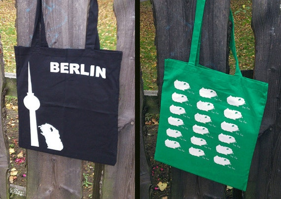 2 x Guinea pig tote bags