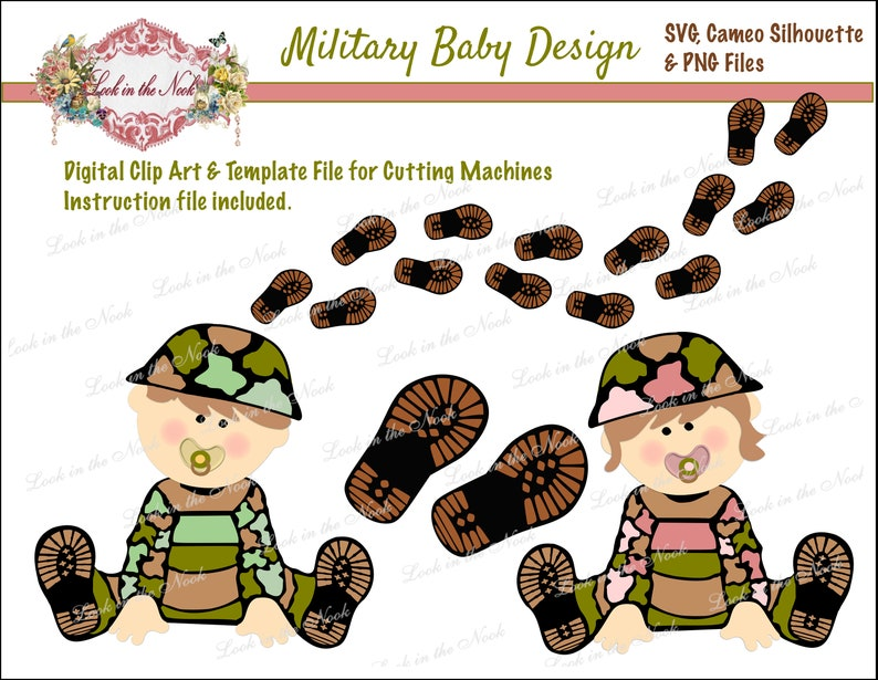 SVG Cutting Files, Military Baby Cutting Machine File, Digital Army Baby  clip art, Army Baby Graphics Digital Download,Military Baby Clipart