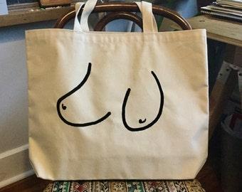Boob Bag (USA made 10oz canvas tote bag)