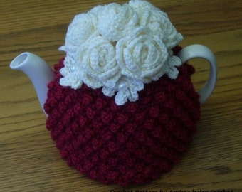 Pattern for Crochet Tea Cosy with Roses (Instant download)