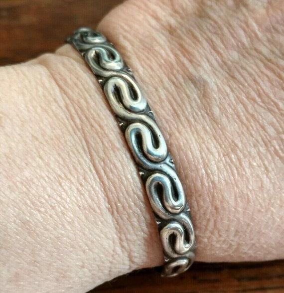 Tiffany Co Cuff Bracelet Sterling Silver 1940 S Era Etsy