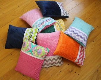 Minky Travel Pillows - Toddler Pillow - Personalized Travel Pillow - Baby Pillow - Adult Travel Pillow - Travel Pillow - Nursery Pillow -