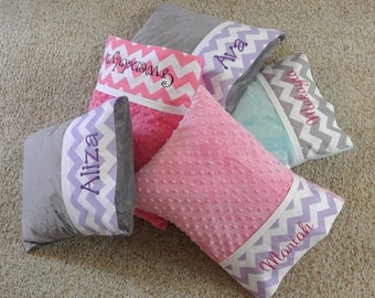 Minky Travel Pillows - Toddler Pillow - Personalized Travel Pillow - Baby Pillow - Adult Travel Pillow - Travel Pillow - Nursery Pillow