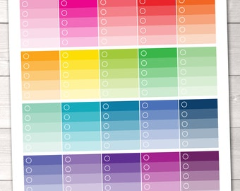 Instant Download Printable Planner Stickers Ombre Checklists To Do Stickers PDF Digital File