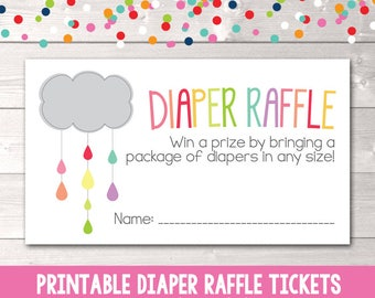 train instant download diaper raffle tickets pdf printable etsy