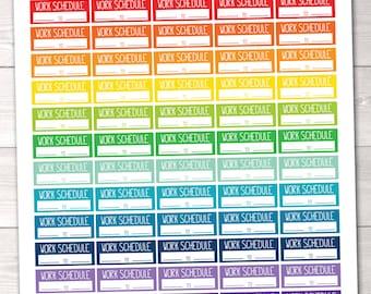 Work Schedule Printable Planner Stickers / Instant Download Work Functional Planner Sticker PDF