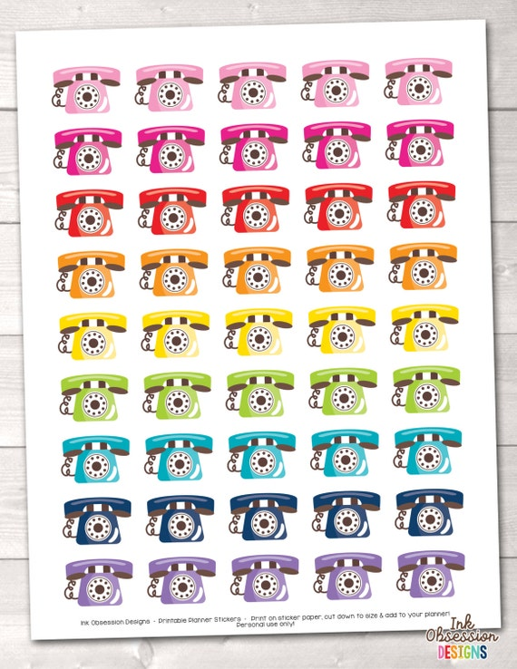 photo relating to Printable Phones referred to as Printable Planner Stickers Phones Fast Obtain