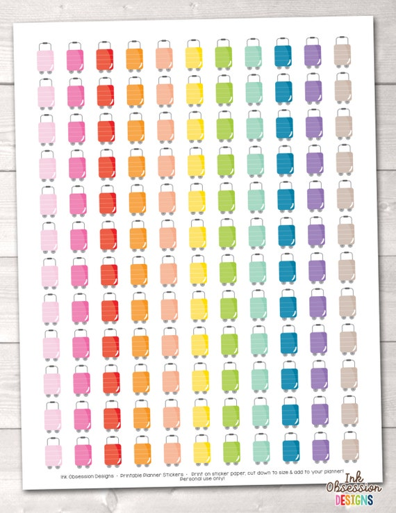 This is a graphic of Printable Planner Stickers throughout summer