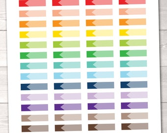 Ombre Labels Instant Download Printable Planner Sticker PDF