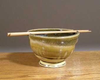Handmade Rice Bowl , Noodle Bowl, Ramen Bowl , Pottery Bowl , Chopsticks Bowl , by Jon Whitney Pottery
