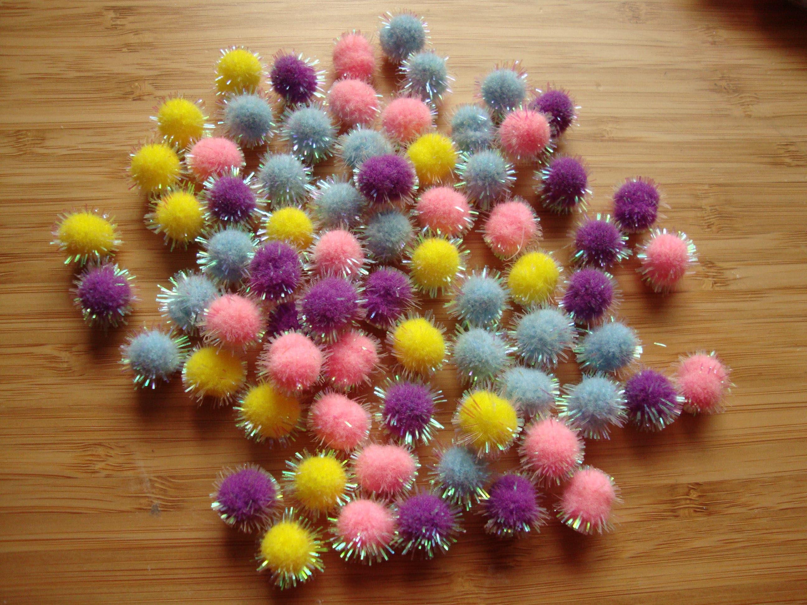 Mini Pom Poms For Spring Easter Embellishments Bunny Tails Etsy