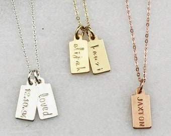Personalized Mini Tag Necklace