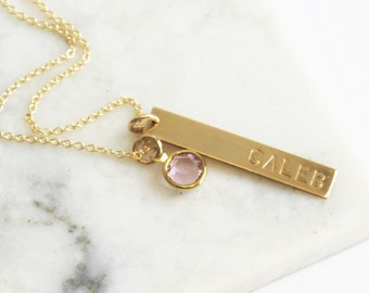 Personalized Gift, Personalized Necklace, Pendant Necklace, Birthstone, Mothers Necklace, Gift for Mom, Personalized Jewelry, Gift for women