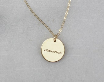 Mama Necklace in Silver or Gold