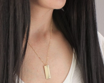 Necklaces for Women, Personalized Necklace, Gift for Mom, Personalized Jewelry, Gold Bar Necklace, Gold Personalized Necklace Gold Necklace