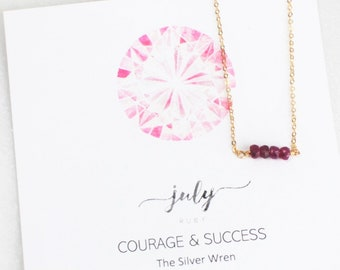 Necklaces for Women, Birthday Gifts, Gifts Women, July Birthday, July Birthstone, Gifts, The Silver Wren, Birthstone Necklace, Gift for Her