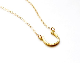 Horseshoe Charm Necklace