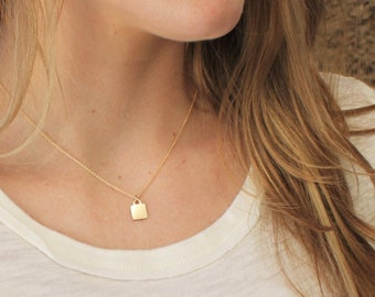 Dainty Tag Initial Necklace