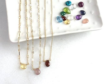 Birthstone Teardrop Necklace
