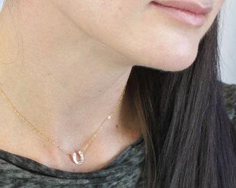 Tiny Horseshoe Necklace