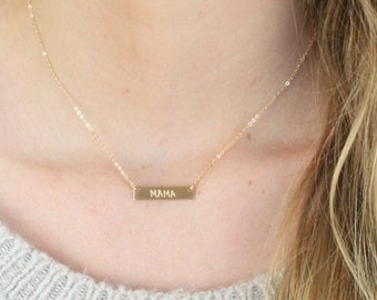 Mini Bar Necklace in Gold, Silver or Rose