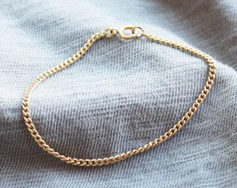 Simple Curb  Chain Bracelet