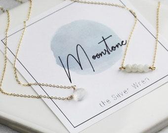 June Birthday - Moonstone Necklace