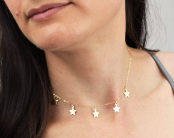 Star Fringe Necklace