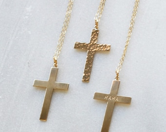 Personalized Cross Charm Necklace