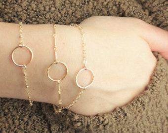 DAINTY Gold Ring Bracelet