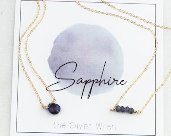 September Birthday - Sapphire Necklace
