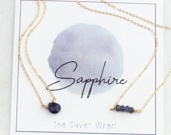 September Birthday - Sapphire Necklace