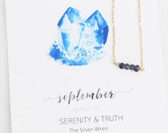 Birthday Gifts For Her, September Birthstone, Necklaces for Women, Sapphire