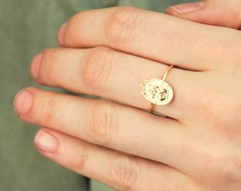 St Christopher Gold Ring